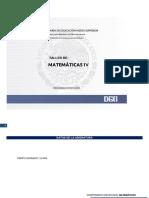 PROGRAMA DE  TALLER DE  MATEMATICAS IV