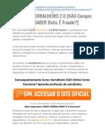 → Curso Serralheiro 2.0 Analise por Dentro [Saiba TUDO Aqui AGORA!]