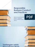 Responsible Business Conduct and Practices