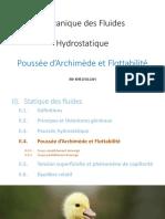 01.4 Hydrostatique - Statique des fluides - Poussée d'Archimède et Flottabilité PPT.pdf