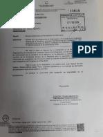 Documento remitido por la Contraloría al oficial mayor del Congreso, Giovanni Forno.