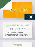 1 classroom rules