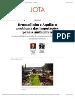 Imputação penal em grandes desastres ambientais_Brumadinho e Aquila