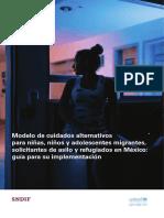 Cuidados alternativos ninez migrante