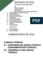 FORMATO PERFIL DE TESIS