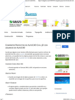 Compartir Proyectos de AutoCAD Civil 3D con usuarios de AutoCAD