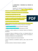 CAPITULO IV DE LA ESTRUCTURA Y FUNCIONES DEL PROCESO DE EVALUACIÓN Y ACREDITACIÓN