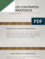 1.- DE LOS CONTRATOS PREPARATORIOS (1)
