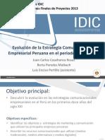 EVOLUCIÓN DE LAS ESTRATEGIAS  DE COMUNICACIÓN