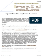 Organization of the Boy Scouts of America