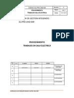 ELI.PRO.CMZ-009 PROCEDIMIENTO TRABAJO EN SALA ELECTRICA