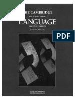 The Cambridge Encyclopedia of Language - extract