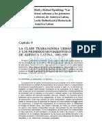 """12 - Hall y Spalging - """"Las clases trabajadoras urbanas y los primeros movimientos obreros de América Latina, 1880-1930"""""""