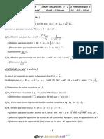 Devoir de Contrôle N°2 - Math - 3ème Mathématiques (2015-2016) Mr Loukil Mohamed