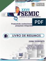 LIVRO DE RESUMOS DO XXVII SEMIC DA UEMA_2RESUMOS