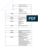 Requerimientos funcionales, Proyecto Java