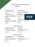 DISTRIBUIDORES SONY VENEZUELA