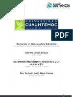 Implicaciones del uso de la GCT en educación_López_Gabriela