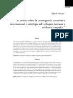 El debate sobre la convergencia económica internacional e interregional