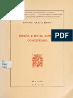 García Berrio Antonio España e Italia Ante El Conceptismo