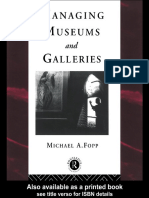Michael Fopp - Managing Museums and Galleries (Heritage) (1997)