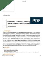COACHING COGNITIVO-COMPORTAMENTAL