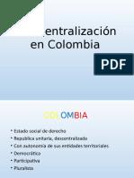 Descentralización en Colombia