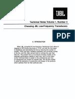 JBL Technical Note - Vol.1, No.3