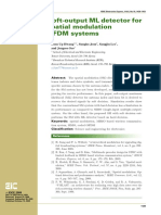 Soft-output ml detector for spatial modulation ofdm systems