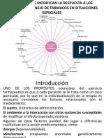 FACTORES QUE MODIFICAN LA RESPUESTA A LOS  FÁRMACOS 1.pptx