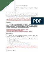 Depersonalization Report