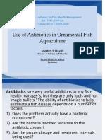 Use of Antibiotics in Ornamental Fish Aquaculture EDITED