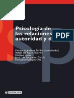 Psicología de las relaciones de autoridad y de poder - Aguila Tejerina, Rafael del