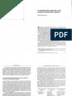 La polarización espacial en las teorías de desarrollo regional.
