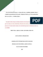 """Plan de Negocios Para La Creación de La Empresa Productora y Comercializadora de Follajes """"Verdes Futuro s.a.s"""" en El Municipio de Facatativa – Cundinamarca-convertido"""