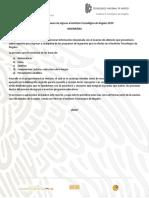 Guía Para El Examen de Admision Tec2019