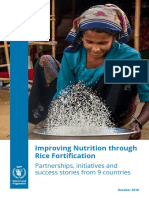 Improving Nutrition through Rice Fortification