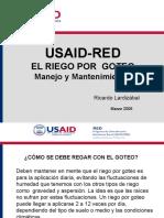 USAID_RED_Riego_Goteo_Manejo_Mantenimiento_11_06.ppt