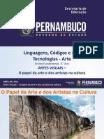 ARTES VISUAIS – O papel da arte e dos artistas nas culturas.ppt