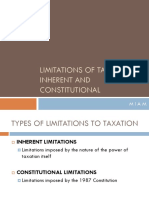 LIMITS-TO-TAXATION