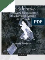 (Faux titre no. 280) Bouchard, Mawy - Avant le roman _ l'allégorie et l'émergence de la narration franc̜aise au 16ème siècle-Rodopi (2006)