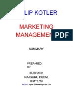Kotler Summary