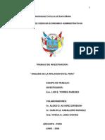 ANALISIS de LA INFLACION en EL PERU Universidad Catolica Santa Maria