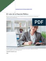 PORTAFOLIO - El valor de la función pública