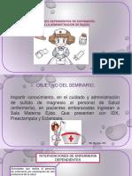 Protocologo MgSO4 Adminsitracion en Enfermeria