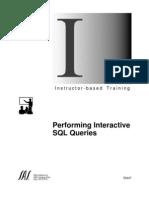 SAS Performing Interactive SQL Queries