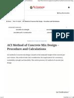 ACI Method of Concrete Mix Design - Procedure and Calculations.pdf