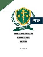PERDA DE SANGUE - ESTUDANTE 2018