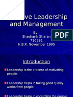 Shashank Effective Leadership and Management