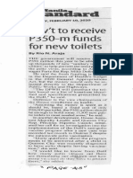 Manila Standard, Feb. 10, 2020, Gov't receive P350-m funds for new toilets.pdf